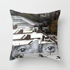 Eyes :: JR in New York City Throw Pillow