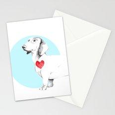 Long dog Stationery Cards