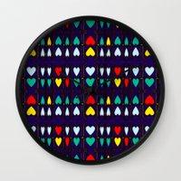 Heart Hugs Wall Clock