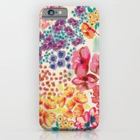 iPhone Cases featuring Flowers by moniquilla