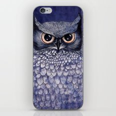 La Sagesse du Hibou (The Blue Owl) iPhone & iPod Skin