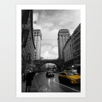 Street View Of Stockholm Art Print