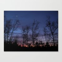 The Line Between Night A… Canvas Print