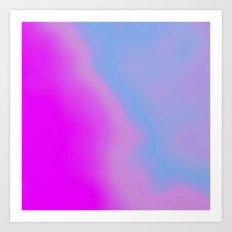 pink blue purple Art Print