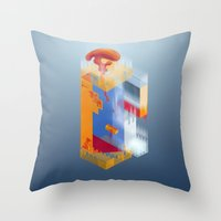 Castle Of Impossible Fla… Throw Pillow