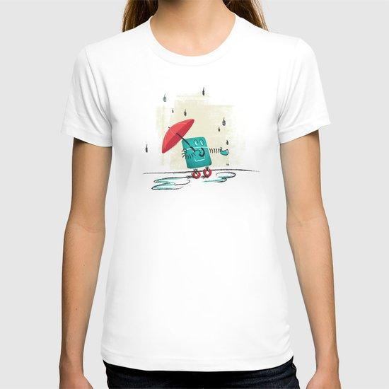 Rain is Bad for Robots T-shirt