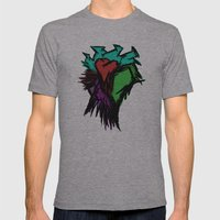 Heart Mens Fitted Tee Athletic Grey SMALL