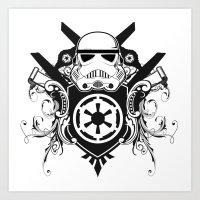 Storm Trooper Coat Of Ar… Art Print