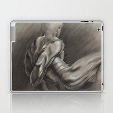 Nude Male Figure Study, Black and White.  Laptop & iPad Skin
