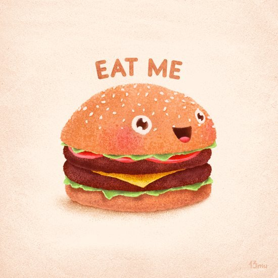Burger Canvas Print