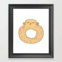 Bovi-doughnut Framed Art Print