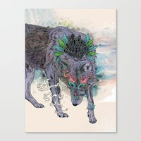 Journeying Spirit (wolf) Canvas Print