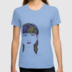 Mandy Womens Fitted Tee Athletic Blue SMALL