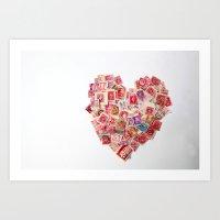 Sending Out A Love Lette… Art Print