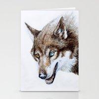 Heterocromia wolf Stationery Cards