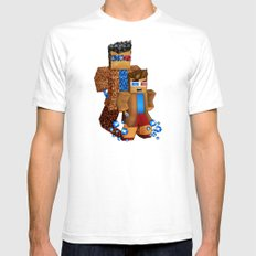 8bit boy with 10th doctor who shadow iPhone 4 4s 5 5c 6, pillow case, mugs and tshirt Mens Fitted Tee White SMALL