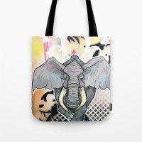 Tote Bag featuring Stampede Part 1 by Tom Ryan's Studio