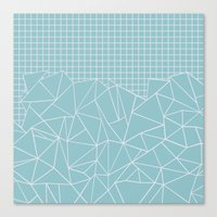 Ab Outline Grid Salty Canvas Print