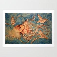 Sky Diver  Art Print