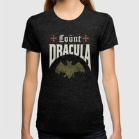 Count Dracula Womens Fitted Tee Tri-Black SMALL