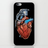Heart Grenade iPhone & iPod Skin
