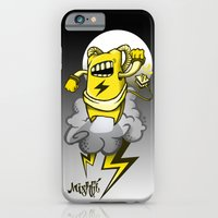 iPhone & iPod Case featuring StormBot - yellow robot by Mishfit