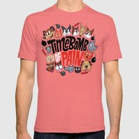 Time Bomb Of Pain Mens Fitted Tee Pomegranate SMALL