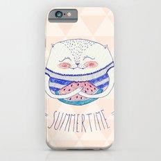 summertime cat iPhone 6 Slim Case