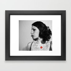 You are here in my heart Framed Art Print
