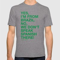 From Brazil I Mens Fitted Tee Tri-Grey SMALL