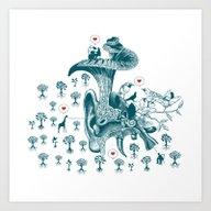 Art Print featuring NATURE CALLING by KURIOSITY STUDIO