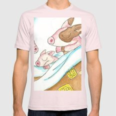 Pigs in a Blanket Mens Fitted Tee Light Pink SMALL