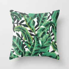 Tropical Glam Banana Lea… Throw Pillow