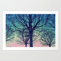 dreaming of trees Art Print