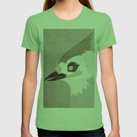 Tufted Titmouse Womens Fitted Tee Grass SMALL
