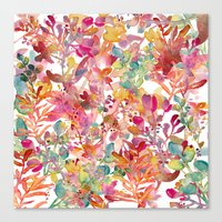 Watercolor Meadow Canvas Print