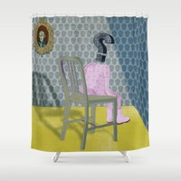In the dog house. Question series Shower Curtain