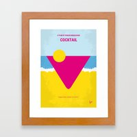 No603 My Cocktail minimal movie poster Framed Art Print
