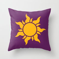 Tangled Rapunzel Sun Logo - Corona Symbol Throw Pillow