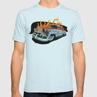 Caddy Rat Rod Mens Fitted Tee Light Blue SMALL