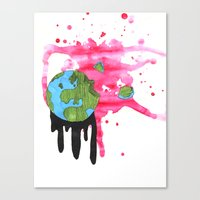 Broken Earth  Canvas Print