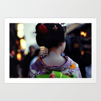 Geisha World Art Print