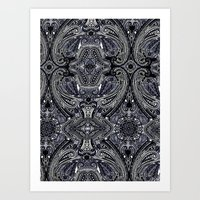 Blu Paisley 1 Art Print
