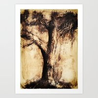Burnt Tree Art Print