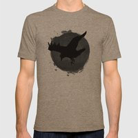 Raven Mens Fitted Tee Tri-Coffee SMALL