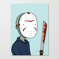 Adventure Time with Jason Voorhees Canvas Print