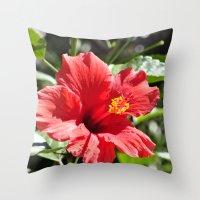 Hibiscus V Throw Pillow