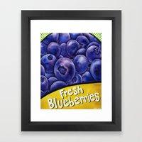 Fresh Blueberries Framed Art Print