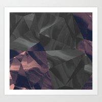 Irregular Marble Art Print