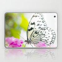 White Butterfly Laptop & iPad Skin